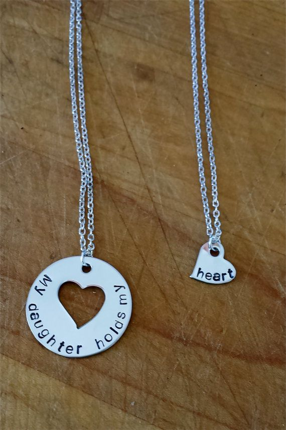 Mother and Daughter Necklace My Daughter Holds My by LaMerLove
