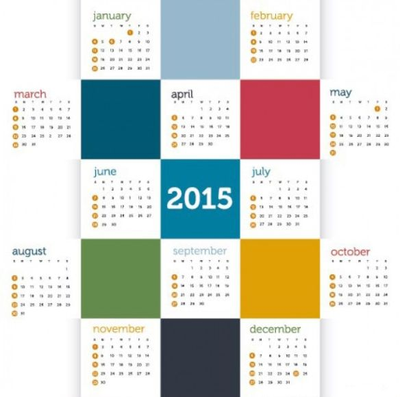 20 Desain Kalender Tahun 2015 Paling Keren | Calendar ...