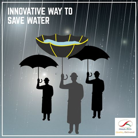 """""""DISCOVER INNOVATION """"  Hahahaha! Yes you got it right. The umbrella is inverted and that's great.  Water is our most precious resources.Every single person on the planet needs water to survive. A little extra effort each day can save loads of drops of water.   Get started! Save Water! Save Life!"""