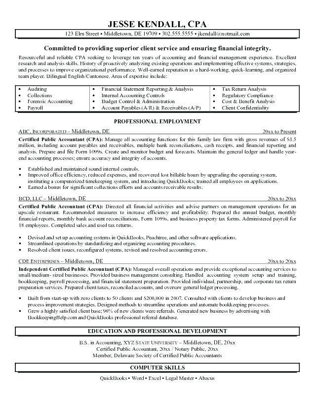 Accounting Resume Summary Accountant Resume Resume Summary