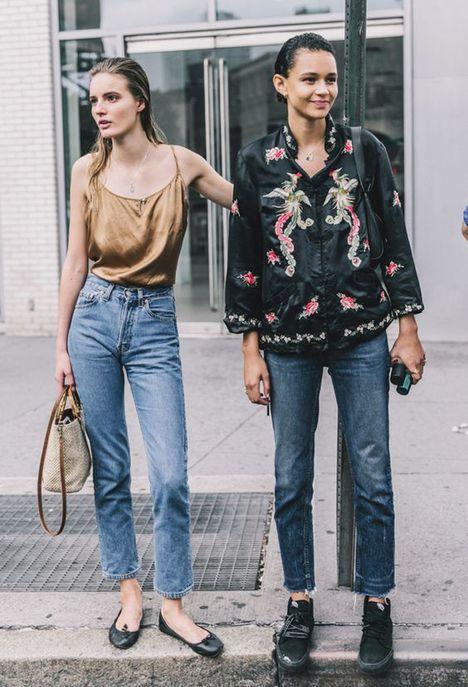 Une pièce satinée pour accessoiriser un jean