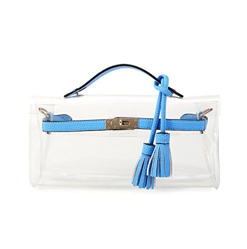 Lam-Gallery-Clear-Purses-and-Handbags-for-Women-Work-NFL-Stadium-Approved-Bags-for-Football-Games-Transparent-Clutch-Beach-Bag-PVC-Plastic-See-Through-Shoulder-Crossbody-Bags-Blue-0