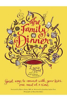 This book is more than a collection of recipes. Laurie David has written a fantastic guide to how to make your family time during meals successful. I loved the dinner games and conversation and will be adding them to our nightly dinner speak.