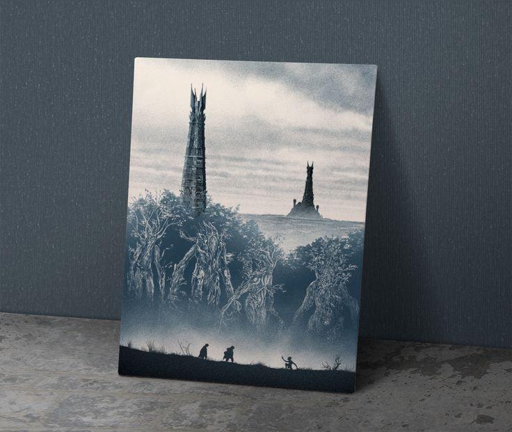 İki Kule - Metal Poster