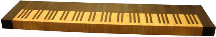 Butcher Block Countertop made to look like Piano Keyboard https://www.glumber.com/