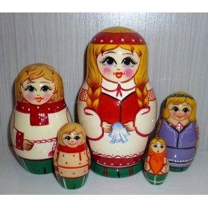 Village Kids #Babushka #russiandoll #matryoshka #dollsindolls #decor #traditional