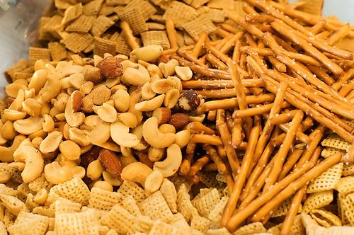 Savory chex mix...dal woud love this