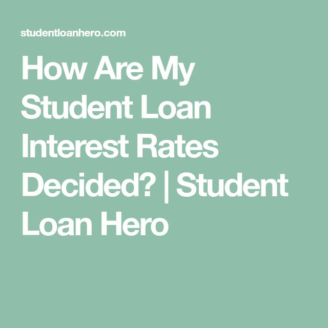 How Are My Student Loan Interest Rates Decided? | Student Loan Hero