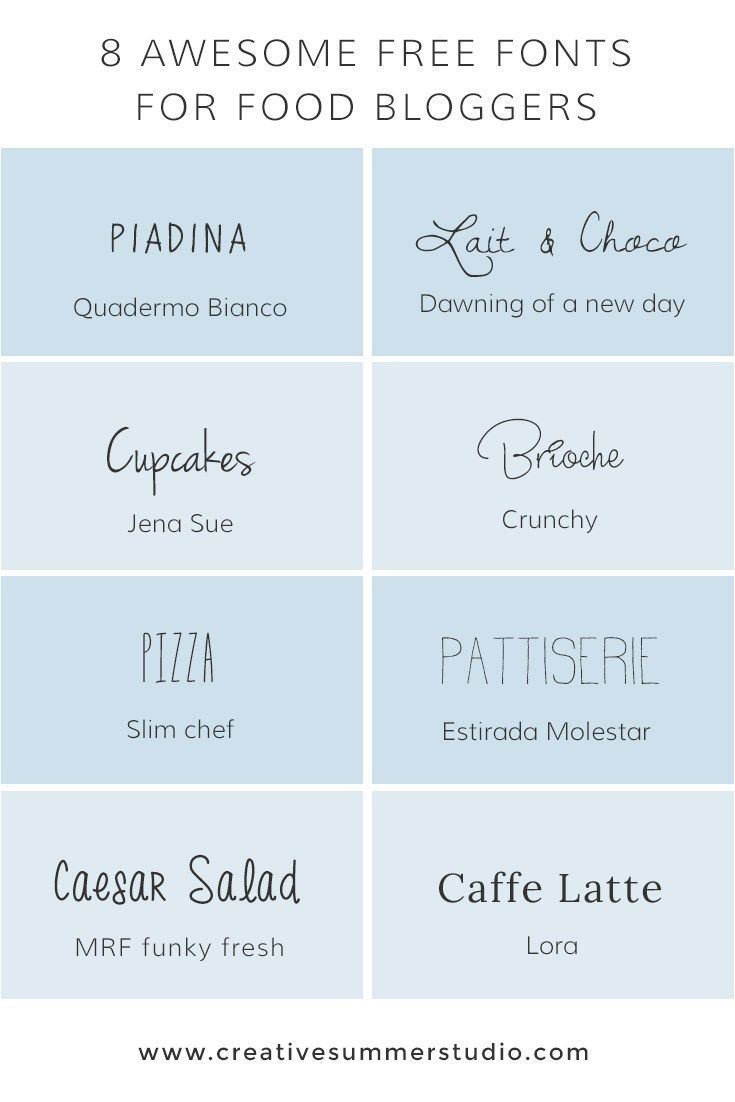 If you are a food blogger or you just need some inspiration for your new blog design, take a look at this amazing collection of 8 FREE fonts for food bloggers. If your blog niche is not about food, you can try them out to spice up a little bit your social media branding. Click here to see the entire collection and to get the links where you can download them from.