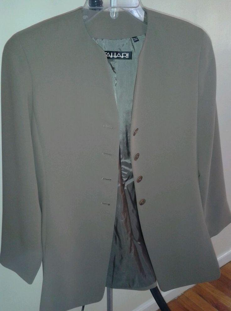 Tahari Blazer 100% polyester,made Korea,sz 2,brown,new w/out tag #Tahari #Blazer