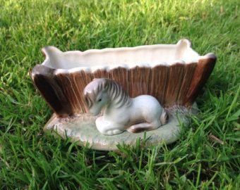 1950s Hornsea Pottery Pit Pony Posy Vase.