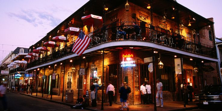 Early evening in downtown New Orleans
