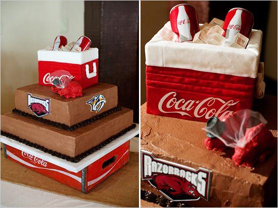 coca cola wedding cake