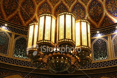 Chandelier Iranian Style Royalty Free Stock Photo