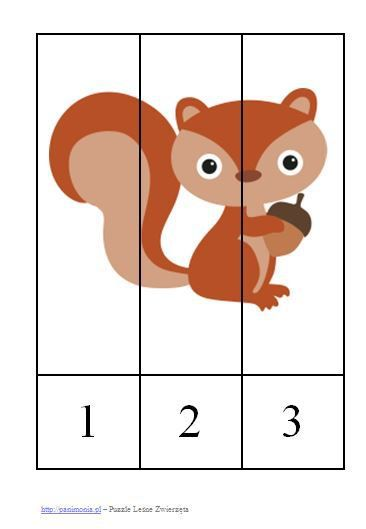 Zwierzęta leśne - kolorowanki, szablony, pomysły na zajęcia, karty pracy, puzzle i wiele innych. Wszystko, co powinna zawierać gigapaka dla przedszkolaka!