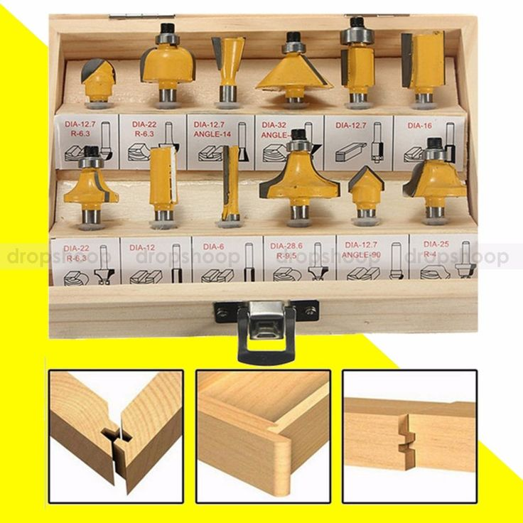 12pcs 1/4 Inch Shank Router Bits Set Tungsten Carbide Woodworking Cutters Rotary
