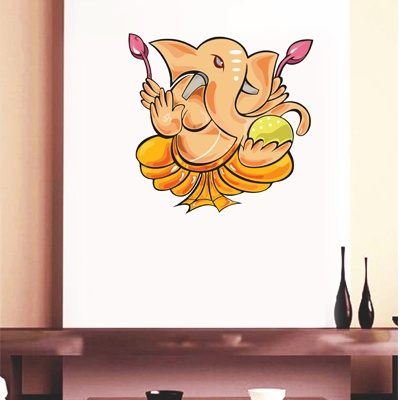 A lovely Ganesha decal to celebrate Ganesh Chaturthi, and to show your passion and devotion to him! - Available at www.gloob.in