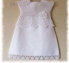 Resultado de imagen para vestidos de niña con pechera en crochet