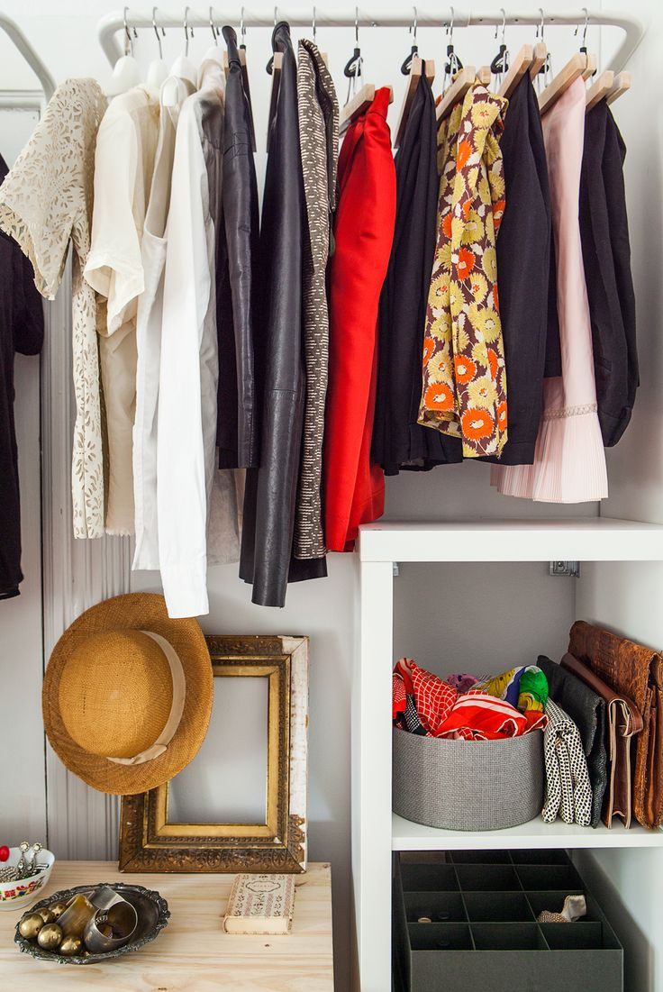 How to organize an awkward closet closet organization skirts and how to get - Clothing storage for small spaces image ...