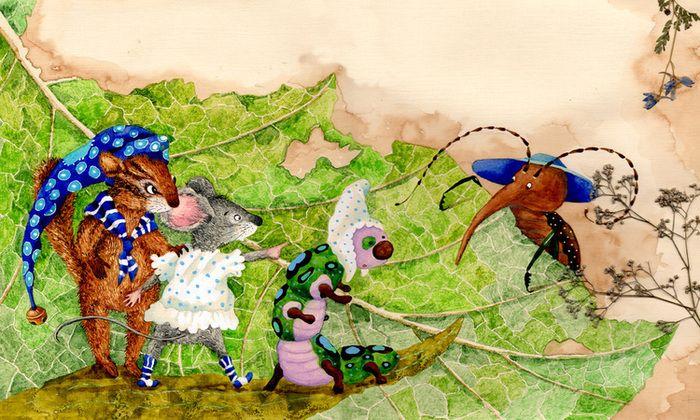 """Посмотреть иллюстрацию Анна Юдина - """"Если ты очень маленький"""" авторская книга."""