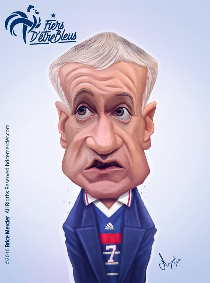 Caricature de Didier Deschamps par Brice Mercier