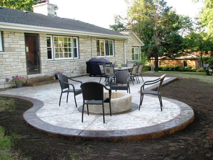 10 Diy Flower Garden Ideas And Containers Concrete Patio Designs Concrete Backyard Patio Design