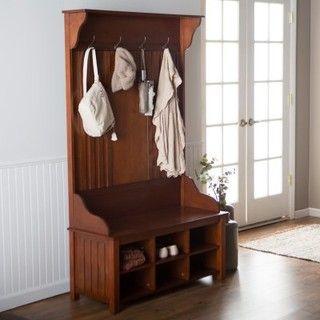 Belham Living Craftsman Hall Tree - Modern - Bedroom Benches - by Hayneedle