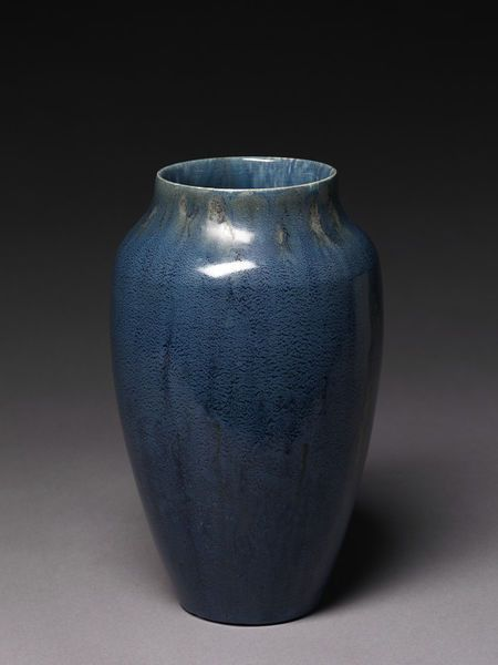 Dora Lunn (Ravenscourt Pottery) | Vase (~1919) | V&A Collection. Earthenware, with mottled blue glaze.