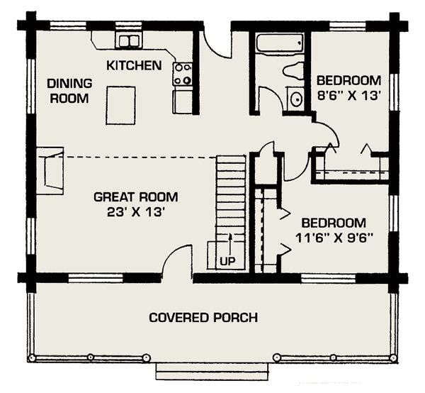images about Small living places on Pinterest   Hidden bed    Elegant Modern Style Small House Floor Plans   Covered Porch   houseplan