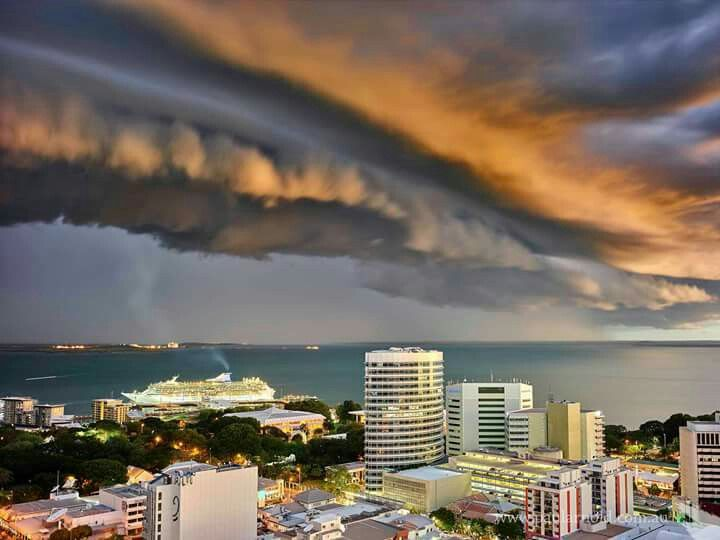 Afternoon storm over Darwin Harbour. Courtesy Paul Arnold Photography.