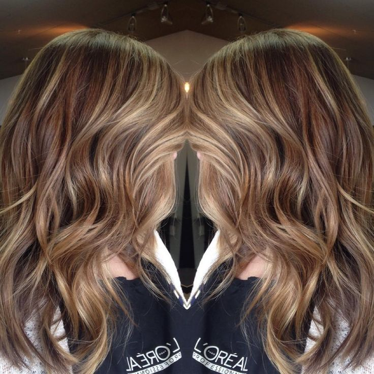 """""""Did my co-worker's hair. She's all about that blonde facial framing and high contrast everywhere else #balayage"""""""