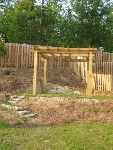 Only From Scratch: DIY Pergola Swingest for the Backyard