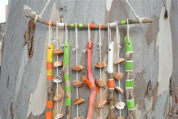 Shell Wind Chime Windchime Reclaimed Wood Driftwood Art