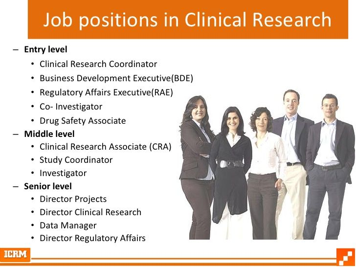Job positions in Clinical Research – Entry level • Clinical Research Coordinator • Business Development Executive(BDE) • Regulatory Affairs Executive(RAE) ...