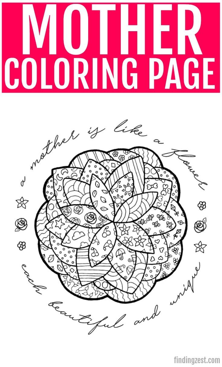 Mother S Day Coloring Pages Like This Flower With Mother Quote Is