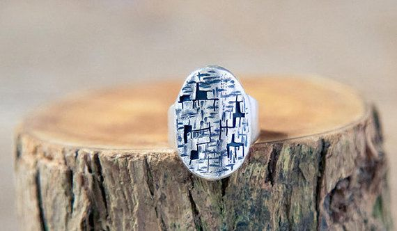 """Sterling Silver """"A maze in complicated ring"""" Irish Handmade contemporary Jewellery by Taer Jewellery"""