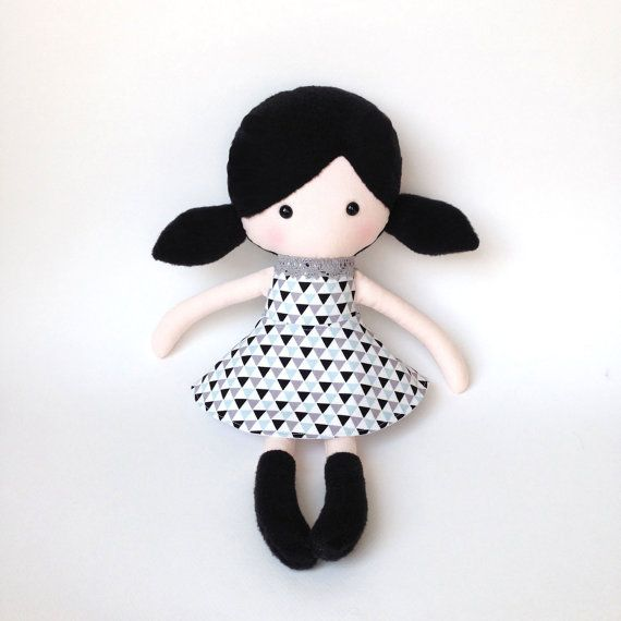 Plush doll  Rag doll  Stuffed toy  Cloth doll   by CreepyandCute