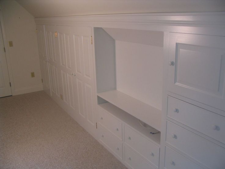 33 Best Images About Attic Bedroom Knee Wall Closet Ideas On Pinterest Built In Wardrobe