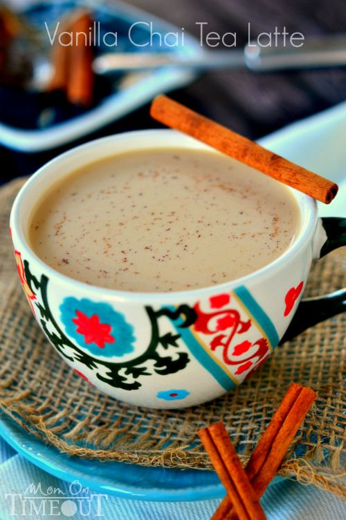 Comfort in a cup! Now you can make your own Vanilla Chai Tea Latte at home!   MomOnTimeout.com