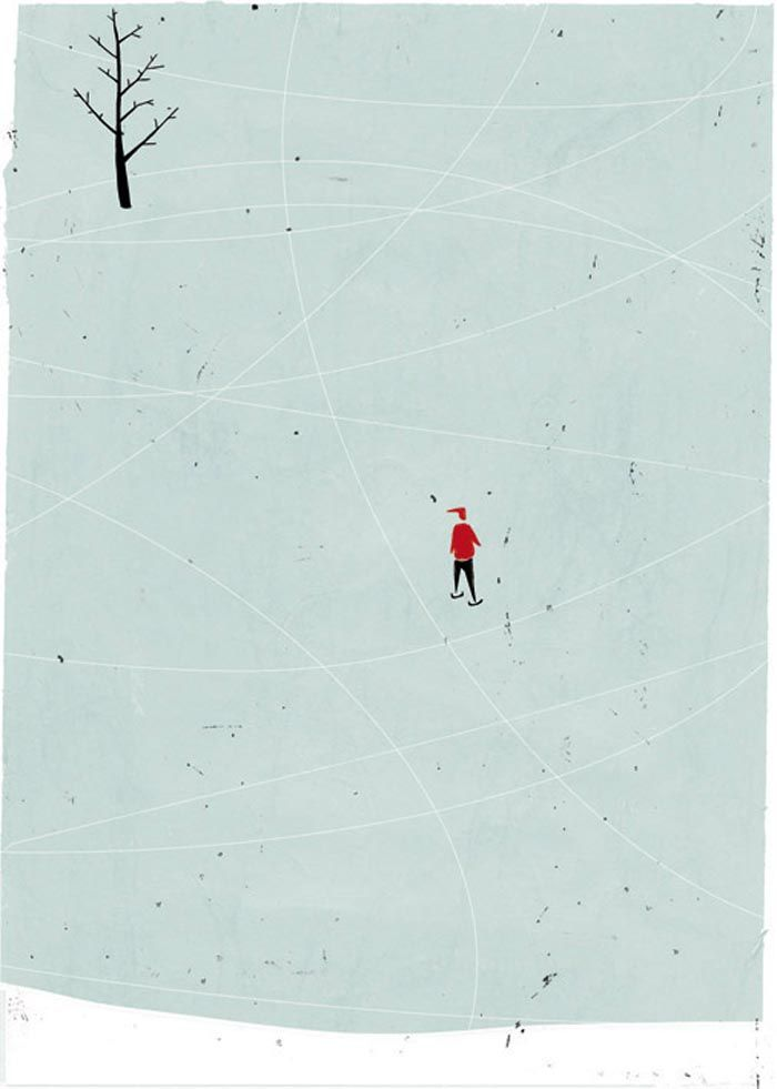 Allesandro Gottardo I love the seeming simplicity of his images, pared back to only the essential pieces to tell a story.
