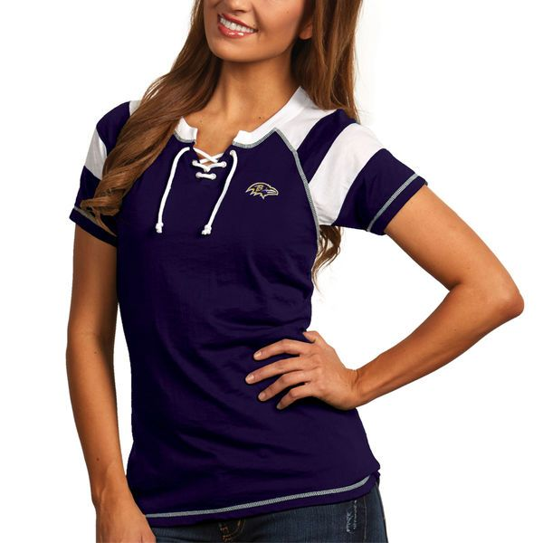 Baltimore Ravens Antigua Women's Score T-Shirt - Purple - $36.99