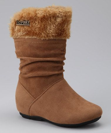 Take a look at this PINKY FOOTWEAR Camel Missouri Zip-Up Cuff Boot by PINKY FOOTWEAR on #zulily today!