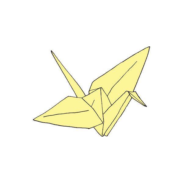 Paper Crane Temporary Tattoo