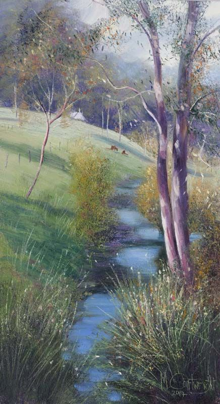 Oil Paintings of Seascapes and River Scenes on Western Australia's South Coast - Capturing the seascape in all its moods and raging rivers gouging through karri tree forests. - Australian Art Paintings by Michael Cartwright Gallery 2