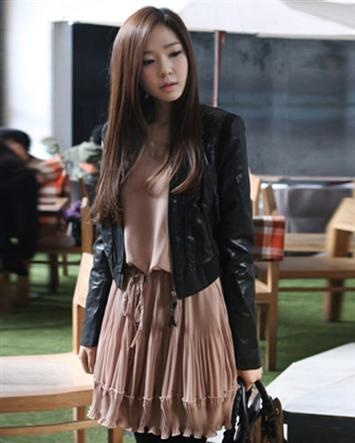 New Women Faux Leather PU Slim Fit Short Casual Lady Jackets Coats ( VIP Fashion Australia www.vipfashionaustralia.com - find cute dresses for cheap )