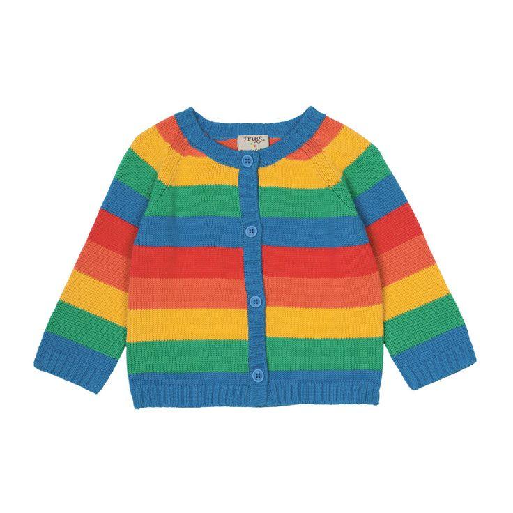 Frugi Happy Day Cardigan - Rainbow Stripe