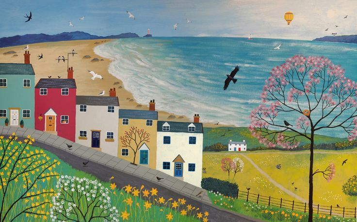 Spring is in the Air - 38 x 24 inches acrylic on canvas.  £650
