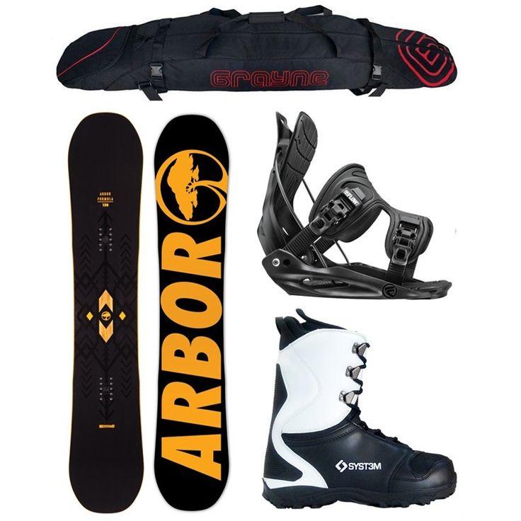 Special Arbor Formula w/ Flow Bindings Men's Complete Snowboard Package