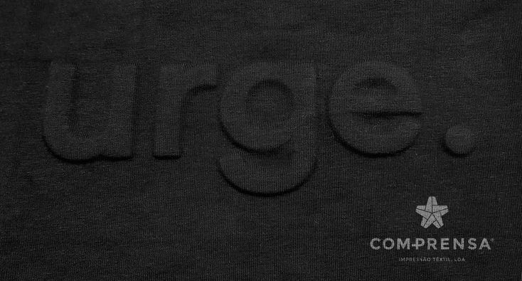 Embossed Lettering in own fabric made by us 😀 Com-Prensa