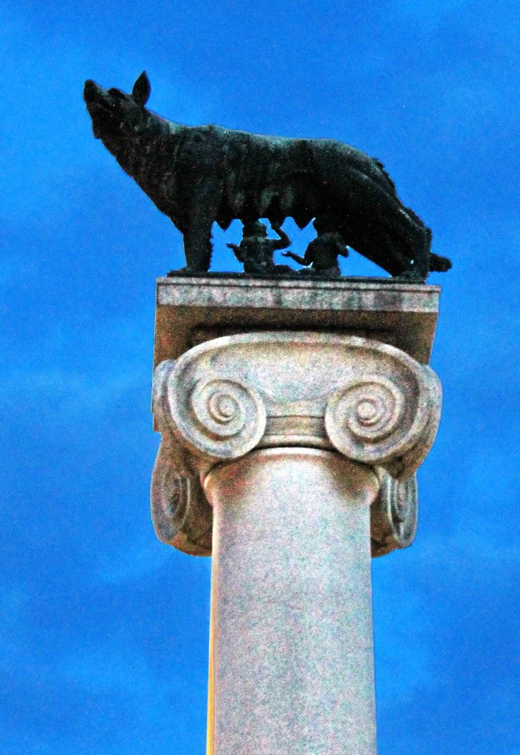 AOSTA (Valle d'Aosta) - Italy - by Guido Tosatto [Romulus & Remus being suckled by a she-wolf.  Statue in Rome]